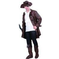 Uomini Costume da Pirata Dei Caraibi Giacche Camicie Costume di Halloween Festa di Carnevale Vestiti Outfit Cosplay Costumi per Adulti di Sesso Maschile