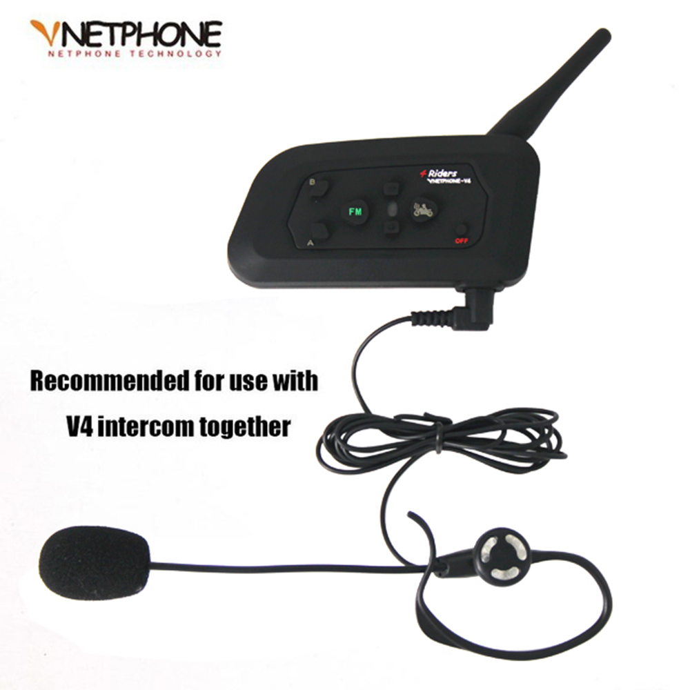 2017 New Real Cascos Casco Football Referee Headset Monaural Earhook Earphone Works with Vnetphone V4 Bluetooth Helmet Intercom