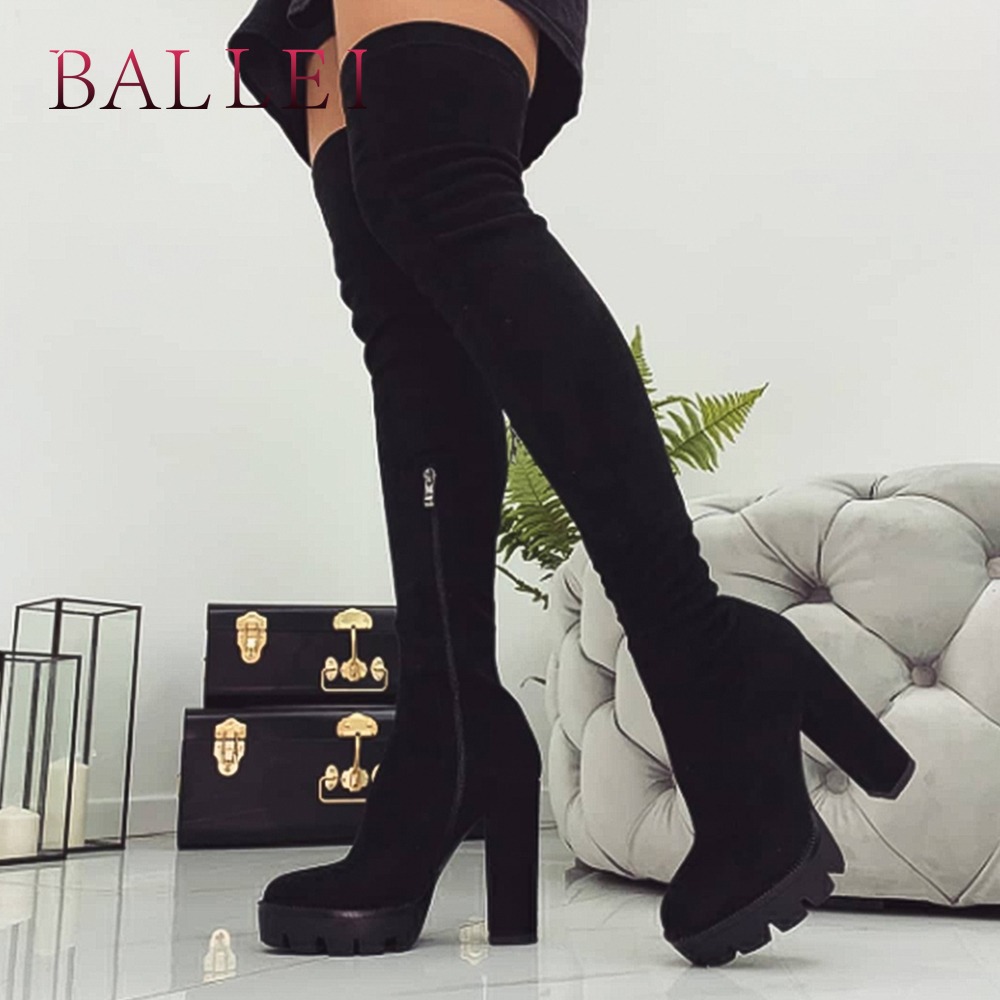 BALLEI Handmade Lady Over-the-knee Boots Luxurious Classic Real Leather-based Horny Excessive Sq. Heel Sneakers Elegant Heat Woman BootsH30 Over-the-Knee Boots, Low-cost Over-the-Knee Boots, BALLEI Handmade Lady Over the knee...