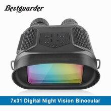 7×31 ночное видение бинокль цифровой инфракрасный ночное видение Сфера 1280x 720P HD фото камера видео регистраторы ясно видеть до 400 м