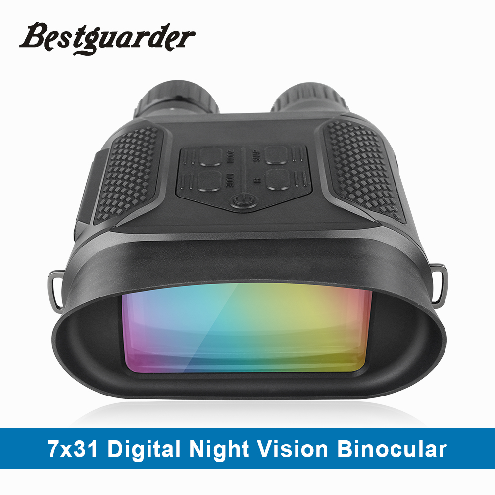 7x31 Night Vision Binocular Digital Infravermelho Alcance de Visão Noturna 1280x720 p HD Photo Camera Gravador de Vídeo claramente ver até 400 m
