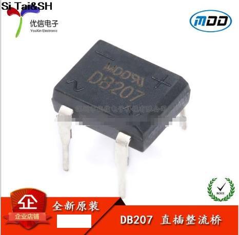 10pcs/lot diode bridge retifica DB207 DIP-4 DB207S DIP4 2A 1000V power diode rectifier 1000v electronic components