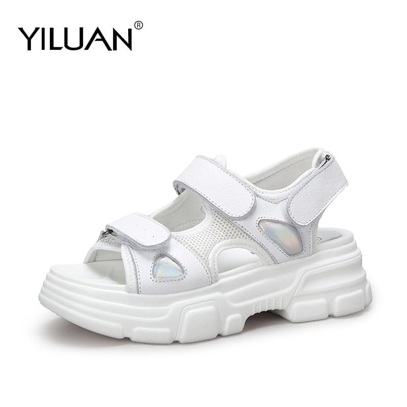 Cuero De Verano Primavera Genuino Las Yiluan Zapatos Nuevos HEIYD9W2