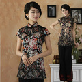 Free shipping!Hot Sale New Arrival Chinese Tradition Cotto Women's Shirt Blouse Tops M L XL XXL 3XL 4XL