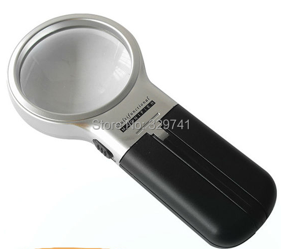 1PC 3x Illumianted Hand Held Foldable Magnifying Glass Desk Magnifier with LED Light