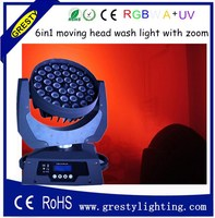 DMX DJ Stage lighting 36 x 18W RGBWA UV Wash LED Moving Head light
