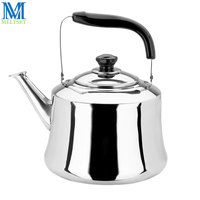Stainless Steel Water Kettle With Whistle 4L 5L 6L Gas Stove Water Pots Induction Cooker Hot
