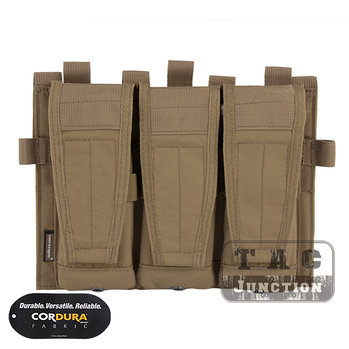 Emerson Tactical AVS Detachable Flap M4 M16 AR15 5.56 .223 Triple Magazine Pouch Emersongear Hook & Loop Mag Holder Ammo Bag