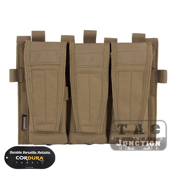 Emerson Tactical AVS Detachable Flap M4 M16 AR15 5.56 .223 Triple Magazine Pouch Emersongear Hook & Loop Mag Holder Ammo Bag