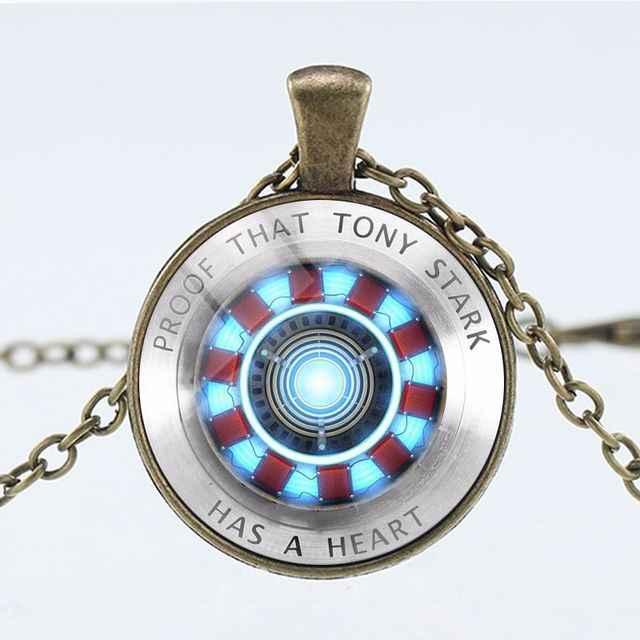 Vingadores quentes homem de ferro tony stark colar marvel avengers 4 endgame quantum reino série colar figura yoys presente para crianças
