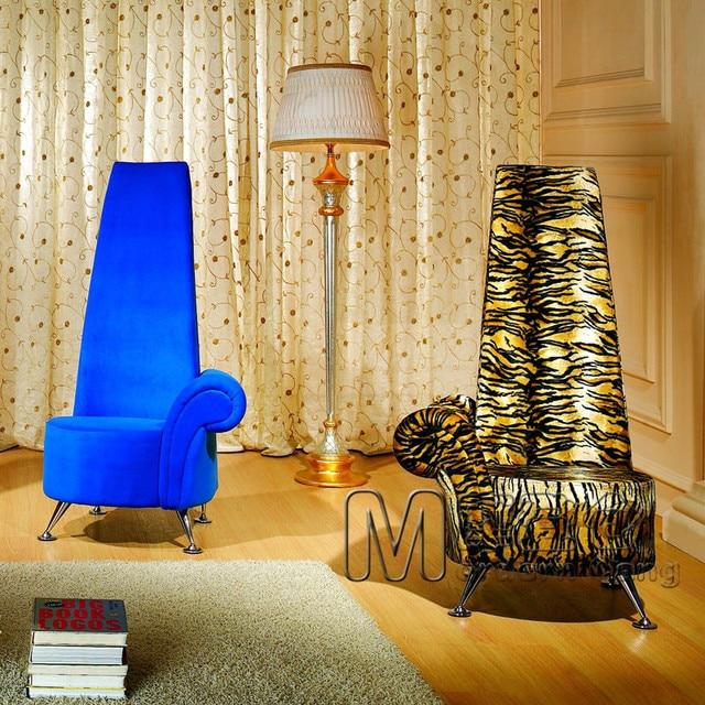 Stylish living room with high back sofa single sofa chair cafe chair