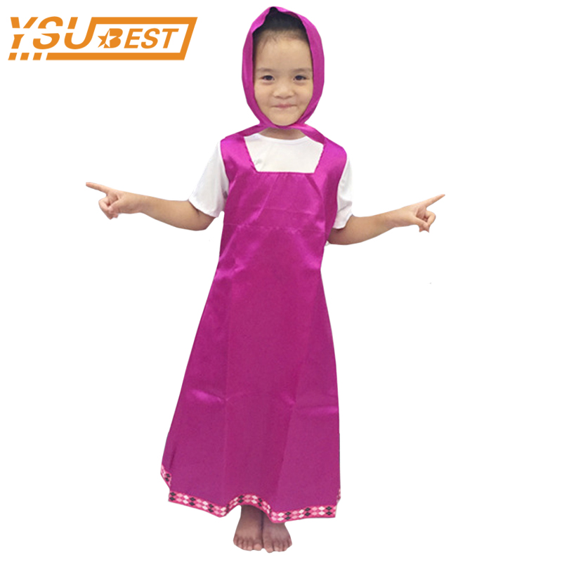 Brilliant Roupa Da Masha And Bear Clothing Costume For Kids Masha Y El Oso Cosplay Party Decoration Childrens Fancy Dress Anime Onesie Back To Search Resultsmother & Kids Dresses