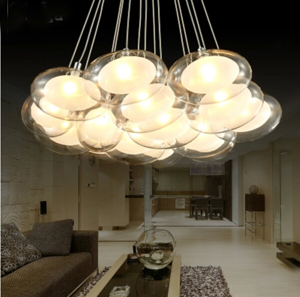 1 7 10 Heads Cord Pendant Lamp Oval Clear Ball Lighting Gl Shades Eggs Decorative For Restaurants In Lights From