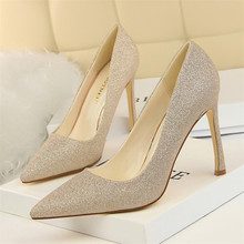 New high-quality fashion womens shoes with super high-heeled shallow mouth pointed sexy thin nightclub high heels