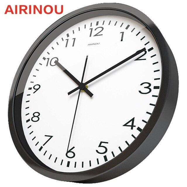 Airinou Corridor Living White Simple Modern Office Wall Clock High Transpa Gl Silent Movement