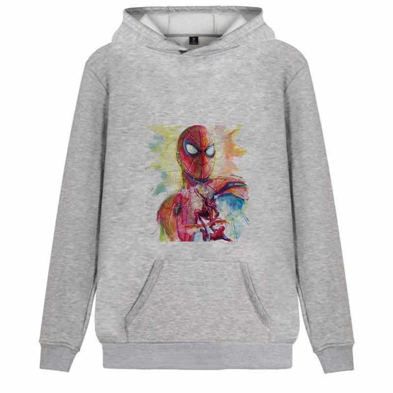 Marvel Avengers hero Spider-Man Captain Venom Cartoon Trendy Flannels Men/woman Hoodie fashions Kangaroo Pocket leisure A193291