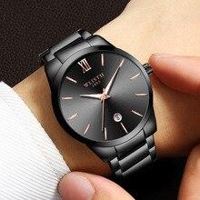 European and American personality waterproof watch Fashion ultra-thin steel belt quartz simple business luminous31