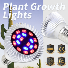 E27 LED Plant Growing Lamp E14 Full Spectrum 18W Grow Light Bulbs 220V Indoor 110V Hydroponics System