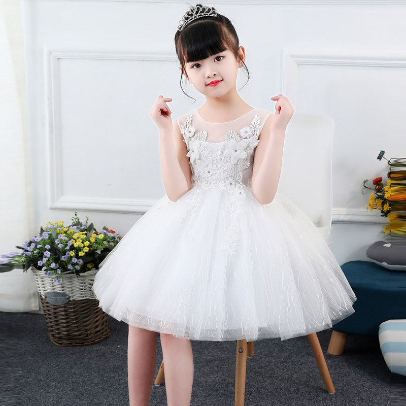 Baby Girl Evening Dresses Little Bridesmaid Wedding Gown Tutu Princess Dress Girl Ceremonies Party Vestidos 4 to 14 years old