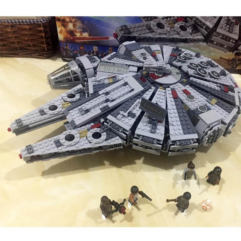 Pogo Gifts Space Ship Millennium Falcon Star Wars Building Blocks Bricks Toys Compatible Wtih Legoe