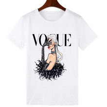 ZOGANKI Street Fashion Girl T-Shirt Summer Cute Women T-shirt Novelty Casual Ladies Tops Hipster Cool Lady Tees Cartoon T-shirts