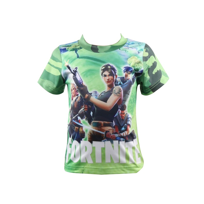 27225162 Fortnite 100%Cotton Minecraft Cartoon Children's clothing Casual Swim Tops  Boys Girls Kids T Shirt tees Five Nights At Freddys