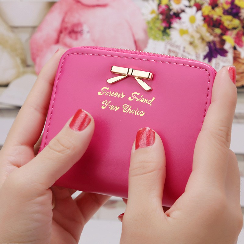 New Small Women's Purse Wallet Short Slim Mini Money Bag Wallet Coin Purse Child Card Holder Purses Wallet For Ladies Girls Gift new 2017 pink hollow leaf short wallet women wallets small purse for girls credit id card holder money coin bag christmas gifts