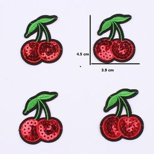 10 шт./лот, с железом, с блестками, маленькая вишневая пластырь, мультяшный стикер для фруктов, для одежды, для украшения джинсов, рюкзак, брюки...