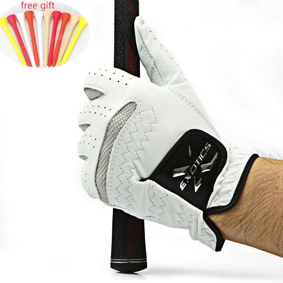 Golf Glove Men's Left Hand Soft Breathable Pure Sheepskin Golf Gloves Golf Outdoor sport accessories free shipping цена