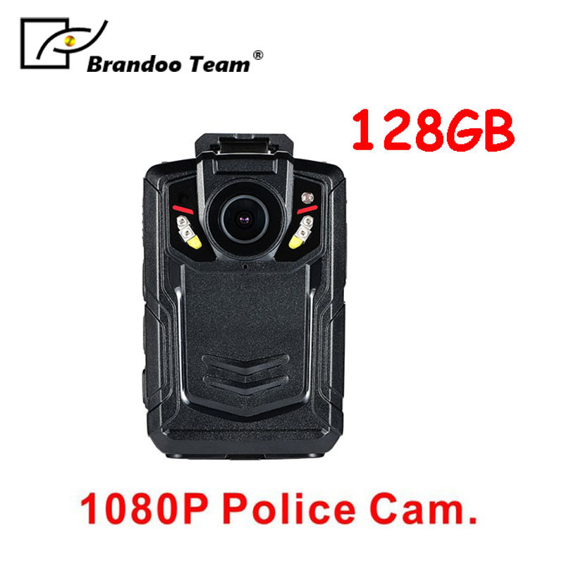 1080P police body camera with 128GB memory,HD Police Body Camera, Multi-functional Body Worn Camera with 128GB Memory free shipping ambarella a2 1080p 30fps hd police camera police body worn camera action body police camera