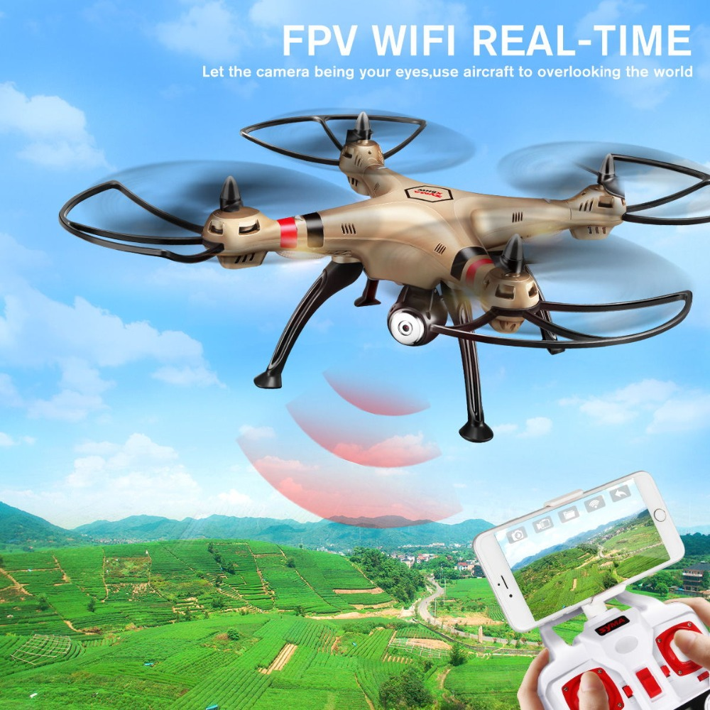 SYMA X8HW RC Drone With Camera HD Wifi FPV RC Quadcopter 2.4G 4CH Gyroscope Remote Control RC Helicopter Dron Headless Mode Gift цена
