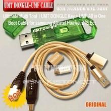 Novo original umt dongle umt chave + umf tudo em um cabo de inicialização para samsung huawei lg zte alcatel reparação de software e desbloqueio