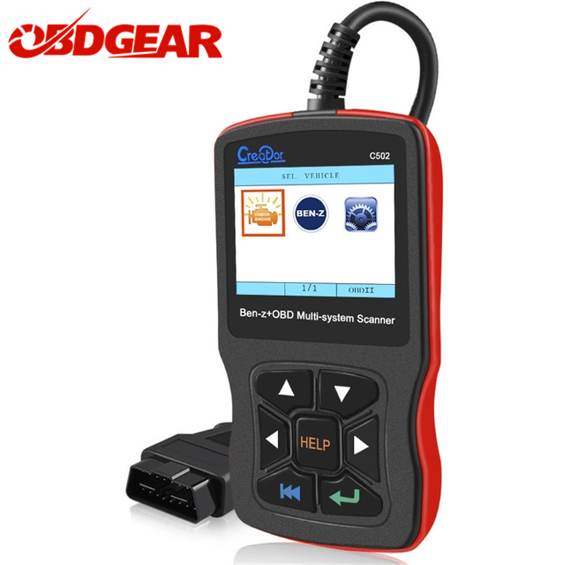 цена Multi-system Creator C502 OBD2 Automotive Scanner For Mercedes benz w211 w124 w212 ABS SRS Oil EPB Reset Auto Diagnostic Tool