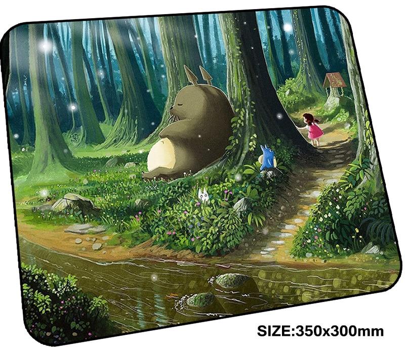 Тоторо коврик для игровой мыши 350x300x3 мм коврик для игровой мыши яркие ноутбук аксессуары padmouse Рождественские подарки эргономичный коврик