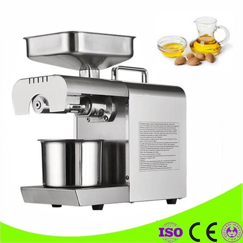 Commercial Mini Oil press Machine Stainless Steel Seed Oil Extractor Hot Cold press For Peanut,Sesame,Flaxseed,Coconut,Cocoa automatic nut seeds oil expeller cold hot press machine oil extractor dispenser 350w canola oil press machine