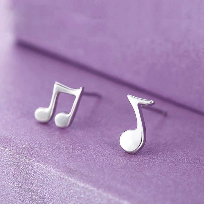 ... Стильный 1 пара Для женщин серьги музыкальные ноты серьги стержня уха украшения  аксессуары украшения сказочные серьги f59d812256e
