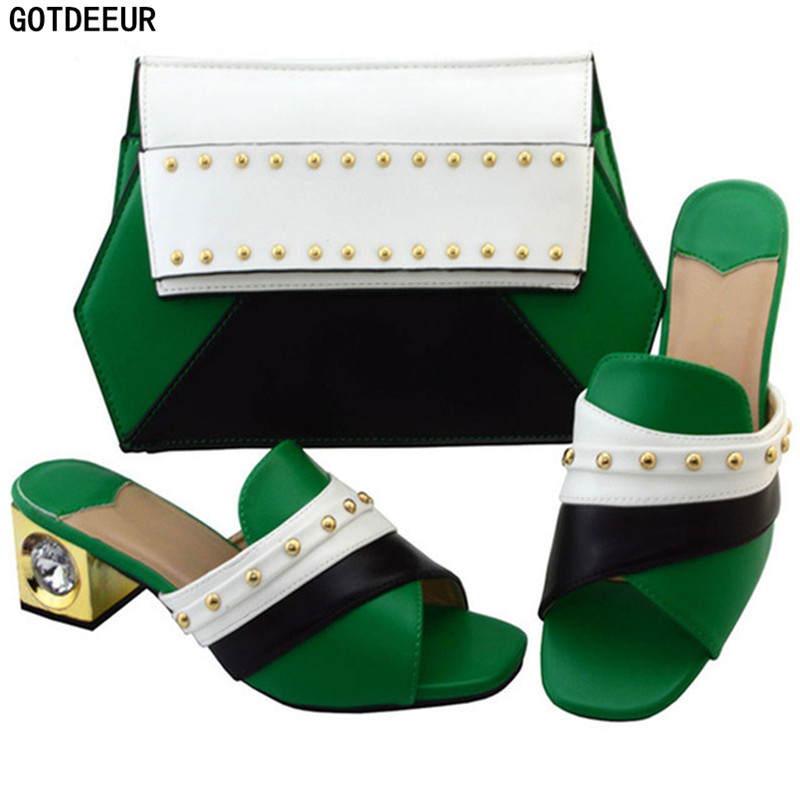 Con Diseñador Mujeres Gris Para Nueva Bolsos Zapatos Mujer azul Africanas amarillo verde De Real Los Las Lujo Bolsa rojo Llegada Y Juego Boda Italianos 2018 A púrpura qRav8tan