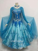 Standard Flomenco Dance Dresses For Lady High Quality Custom Made Women Waltz Tango Ballroom Competition Dancing Dress