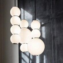 Скандинавский современный жемчужный акриловый подвесной светильник для гостиной, подвесной светильник для столовой, белая акриловая лампа с шариками