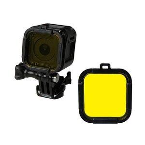 Image 5 - Wodoodporny filtr nurkowy 4 kolorowy filtr do nurkowania czerwony fioletowy żółty szary osłona obiektywu osłona obiektywu dla Gopro Hero 4 sesja 5 sesja