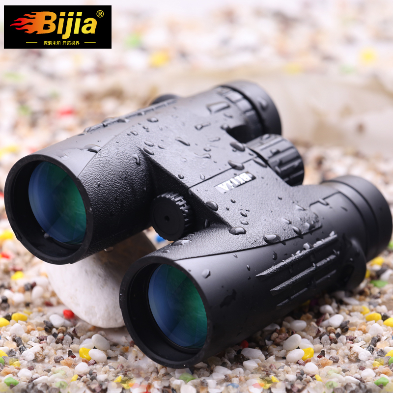 Good quality Waterproof Binoculars 10x42mm Portable FMC Green Film Non infrared 10X font b Telescope b