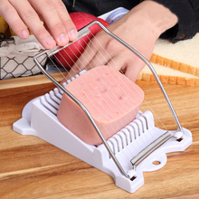 1Pcs ABS Stainless Steel Luncheon Meat Slicer 10 Wires Egg Spam Cutter Kitchen Cooking Tools Cheese For