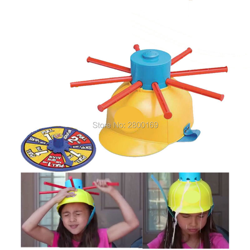 c8d94578e85b0 Juego divertido sombrero mojado agua reto juguetes juego de ruleta para la  Familia