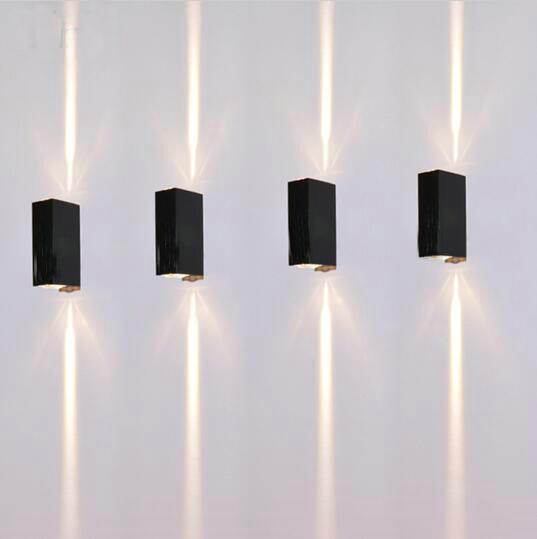 6w Outdoor Led Wall Lamps Square Waterproof Sconce Up And Down Side Lighting  10pc/ Lot