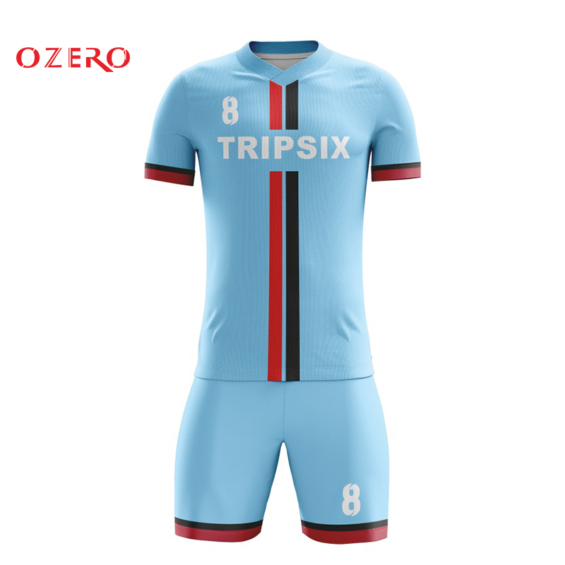 brand new fc5ce f9ea1 US $140.0 |sky blue color sublimation soccer jersey personalised  sublimation football jersey wholesale price-in Soccer Jerseys from Sports &  ...