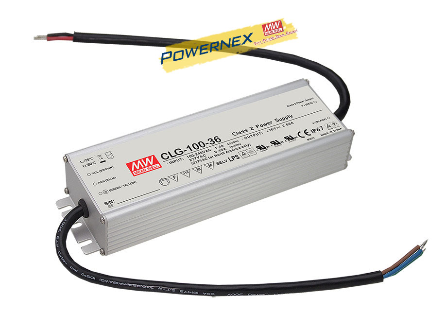 цена на [PowerNex] MEAN WELL original CLG-100-24 24V 4A meanwell CLG-100 24V 96W Single Output LED Switching Power Supply