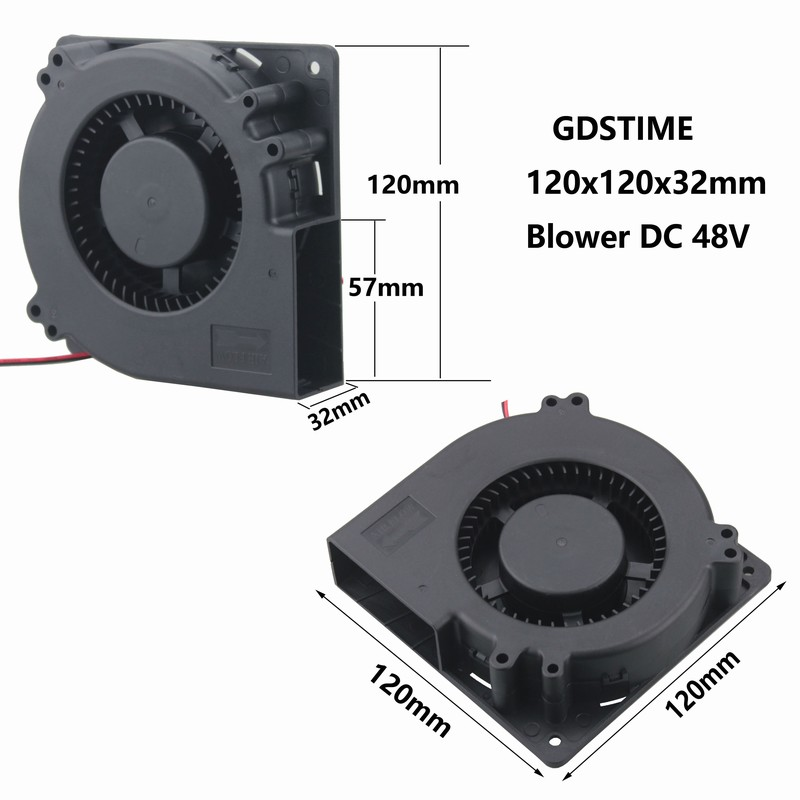 AC 110V-240V 120mm 32mm Ball Blower Fan 120x32mm PC Computer Case With AC Plug