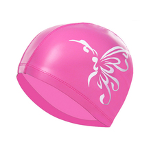 C24-D   waterproof sunscreen/increase protection ear professional swimming PU cap male adult female