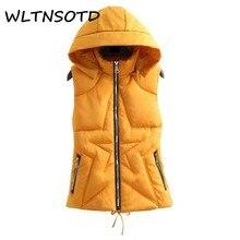 winter new womne Slim thin short feather cotton vest female jacket Waistcoat Five-pointed star pattern warm parka