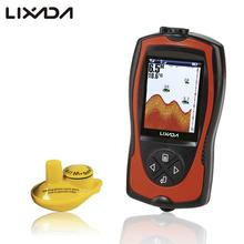 Lixada 2-in-1 Rechargeable Fish Finder 2.4inch LCD Wireless Sonar Transducer Depth Locator ICE Ocean Alarm Fishing Detector